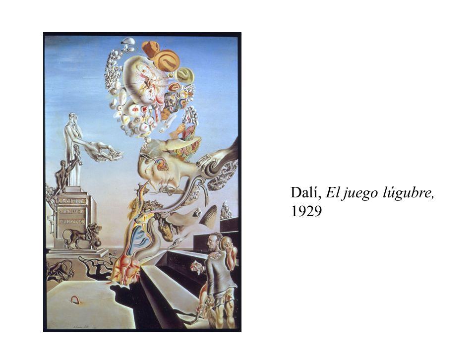 Dalí, El juego lúgubre, 1929