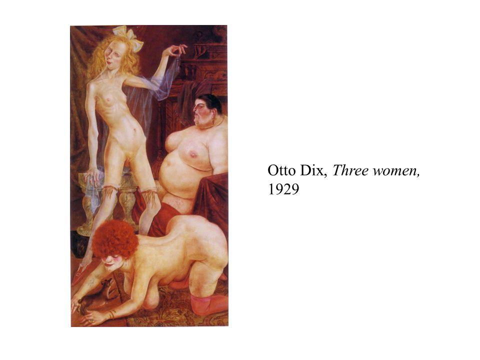 Otto Dix, Three women, 1929