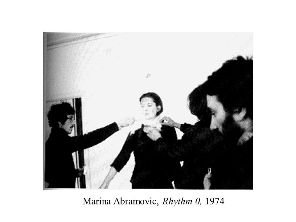 Marina Abramovic, Rhythm 0, 1974