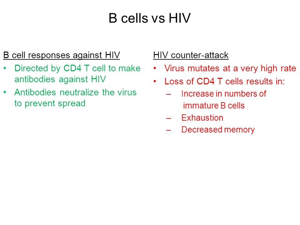 CD8 T cells responses against HIV Killer arm of the immune system Seek, identify and destroy infected cells Control virus in the initial months of infection HIV counter-attack Virus mutates and escapes Chronic inflammation leads to exhaustion Lack of CD4 T cells: a.Insufficient signals to activate more killer cells a.Defective memory b.Impaired function CD8 T cells vs HIV
