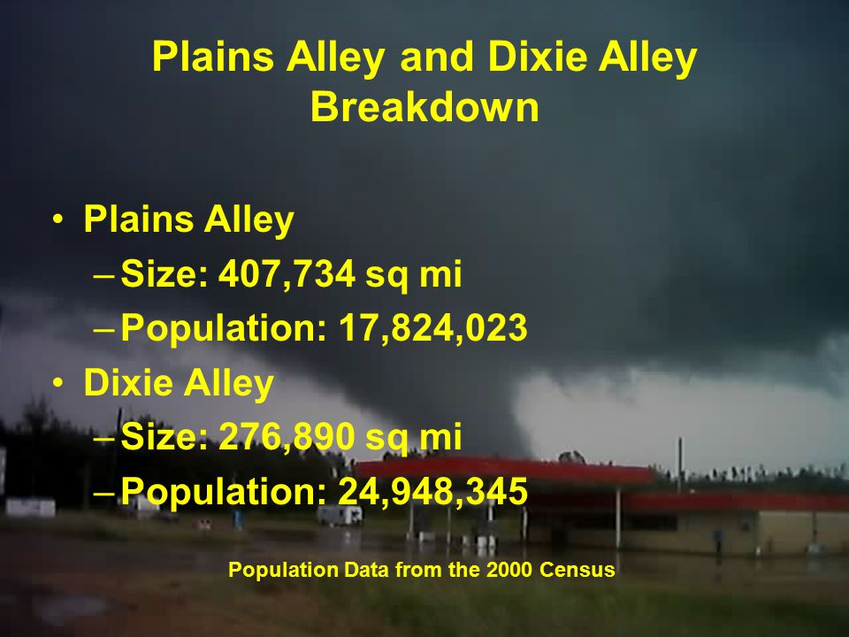 Depiction of Plains and Dixie Tornado Alleys