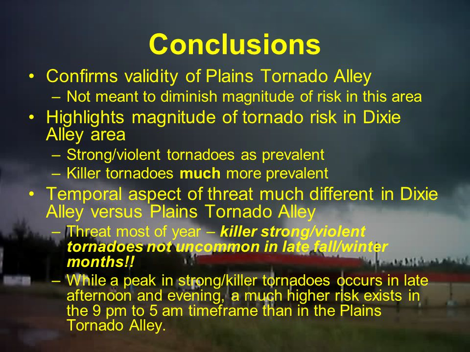 Annual Trend 76% of strong tornado days in Tornado Alley occur in a three month period (April, May, June) –Adding March in takes the value to nearly 9