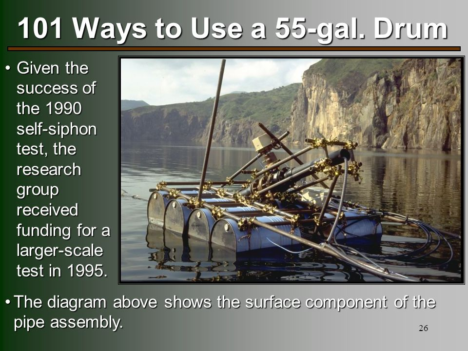 26 101 Ways to Use a 55-gal.
