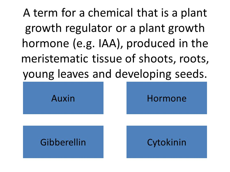 A term for a chemical that is a plant growth regulator or a plant growth hormone (e.g.