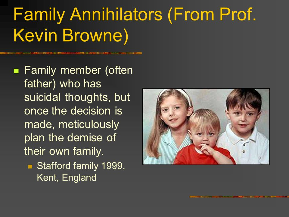 Family Annihilators (From Prof.