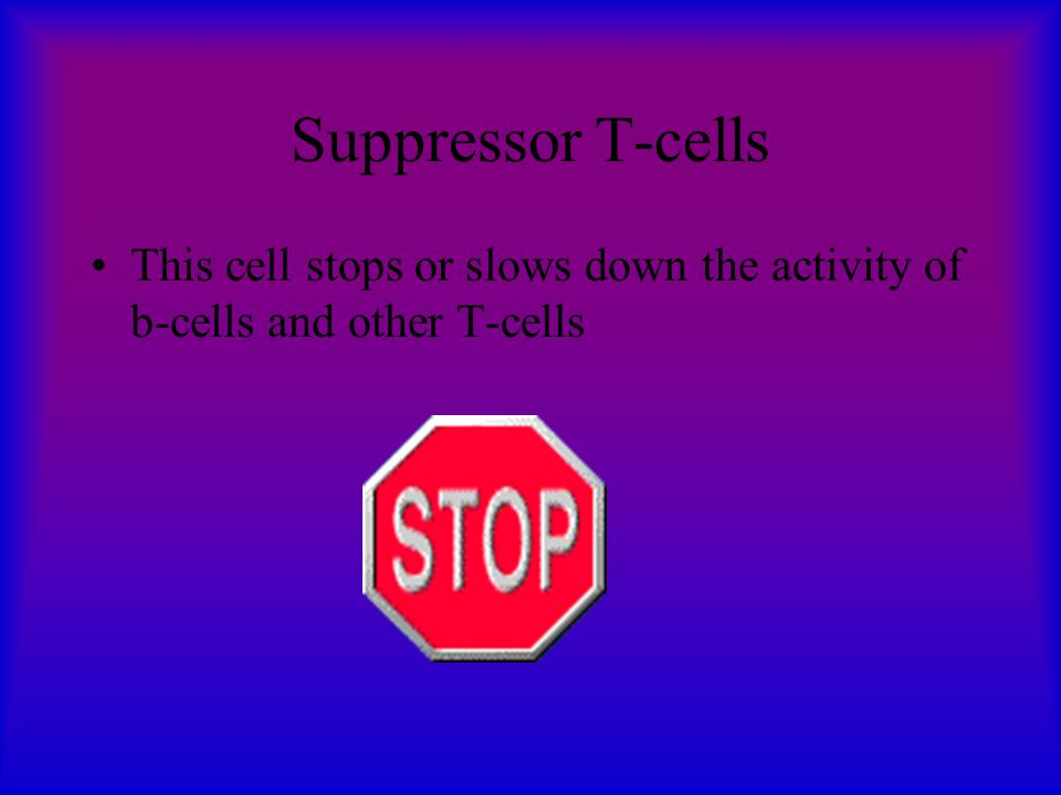 Killer T-cells As the next line in defense, killer T-cells destroy cells in the body that have been invaded by foreign organisms. The cells then eject