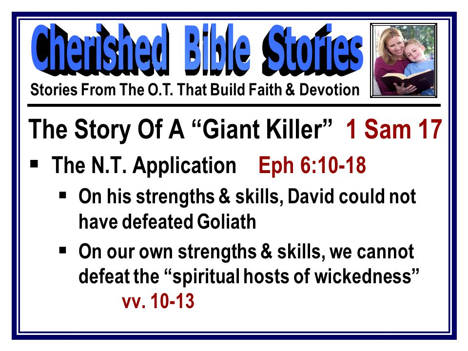 The Story Of A Giant Killer 1 Sam 17  The N.T.