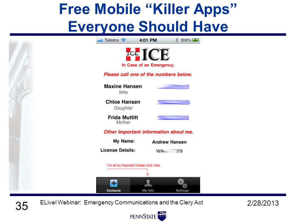 35 Free Mobile Killer Apps Everyone Should Have 2/28/2013 ELive.