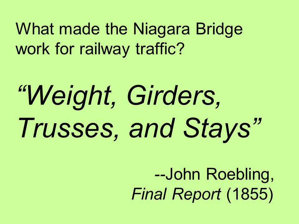 What made the Niagara Bridge work for railway traffic.