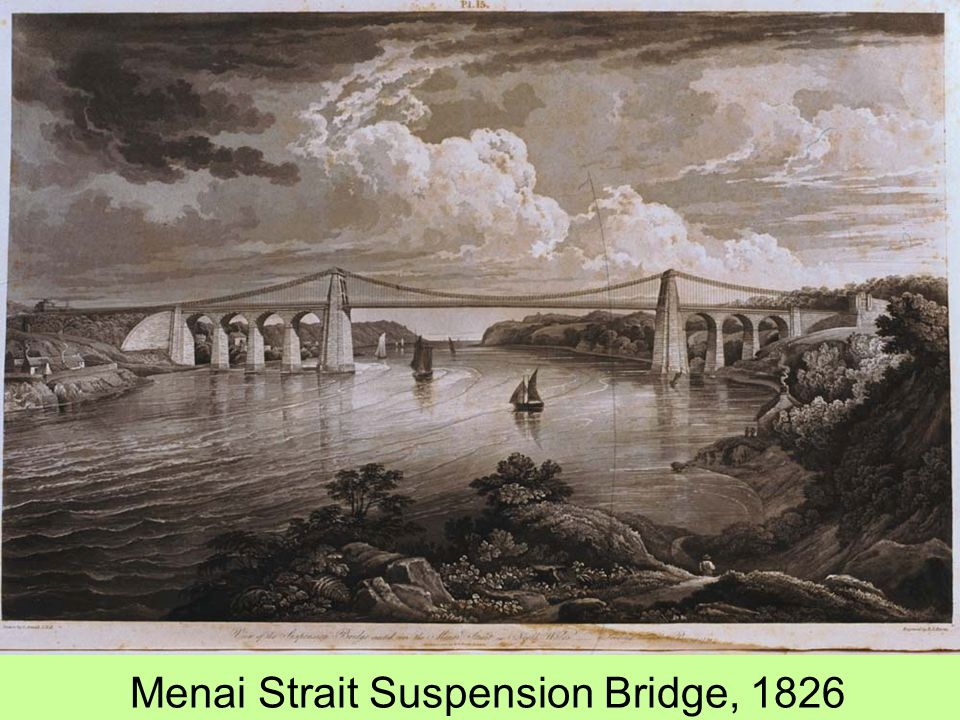 Menai Strait Suspension Bridge, 1826