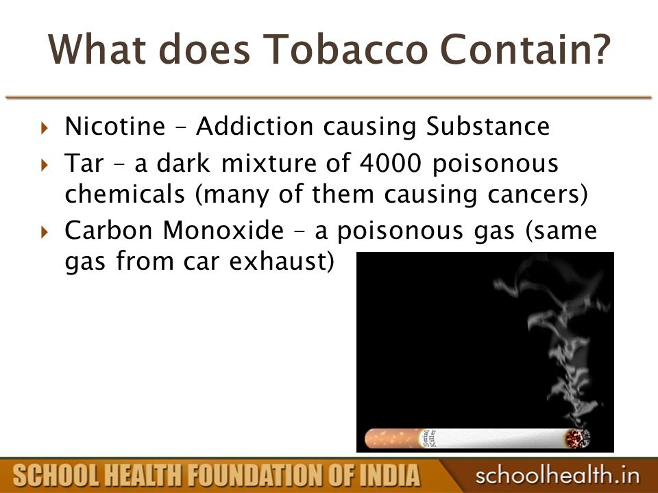 What does Tobacco Contain.