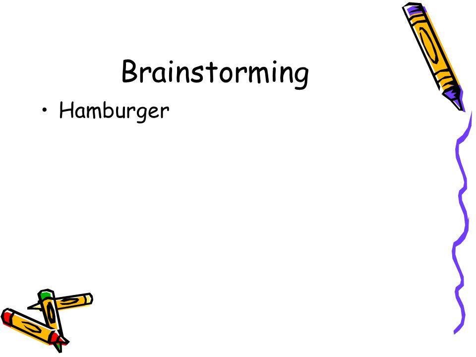 Brainstorming Hamburger