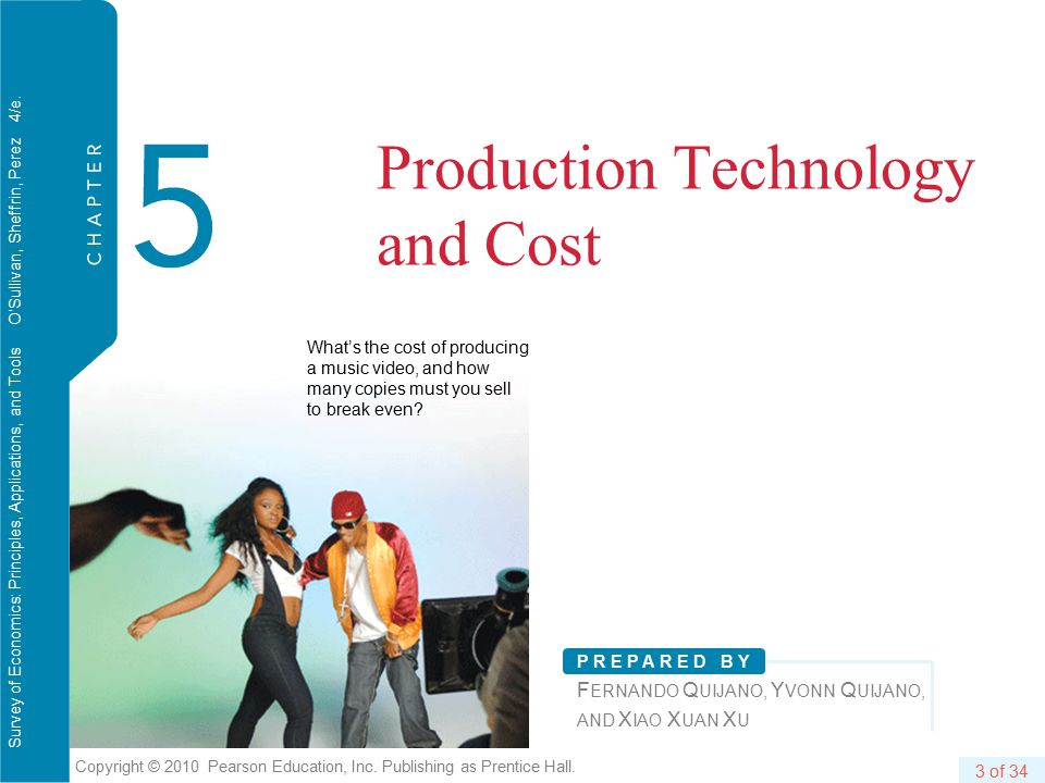 C H A P T E R 5 Production Technology and Cost 24 of 34 Copyright © 2010 Pearson Education, Inc.