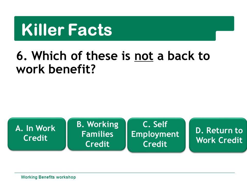 Working Benefits workshop