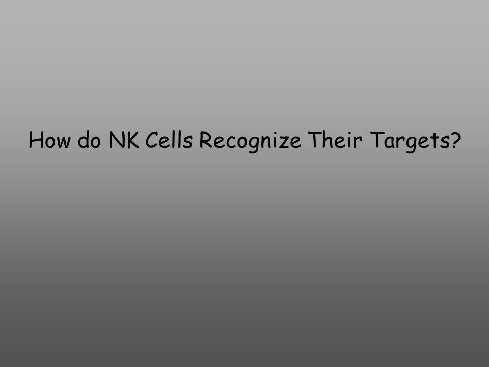 How do NK Cells Recognize Their Targets