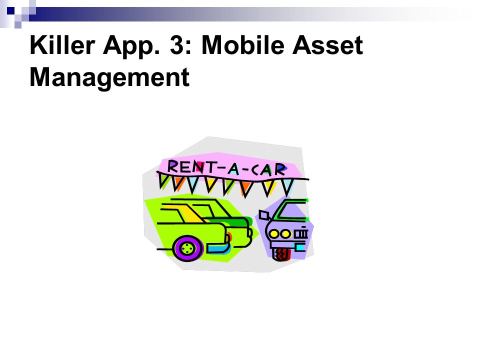 Killer App. 3: Mobile Asset Management