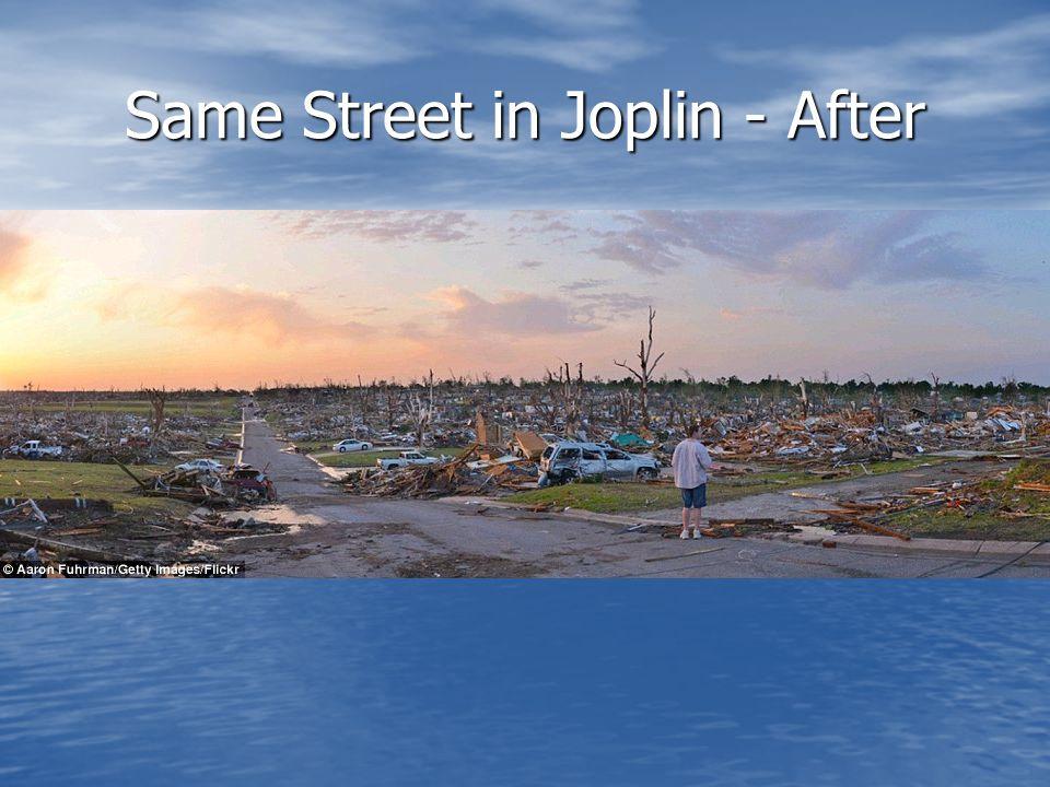 Same Street in Joplin - After