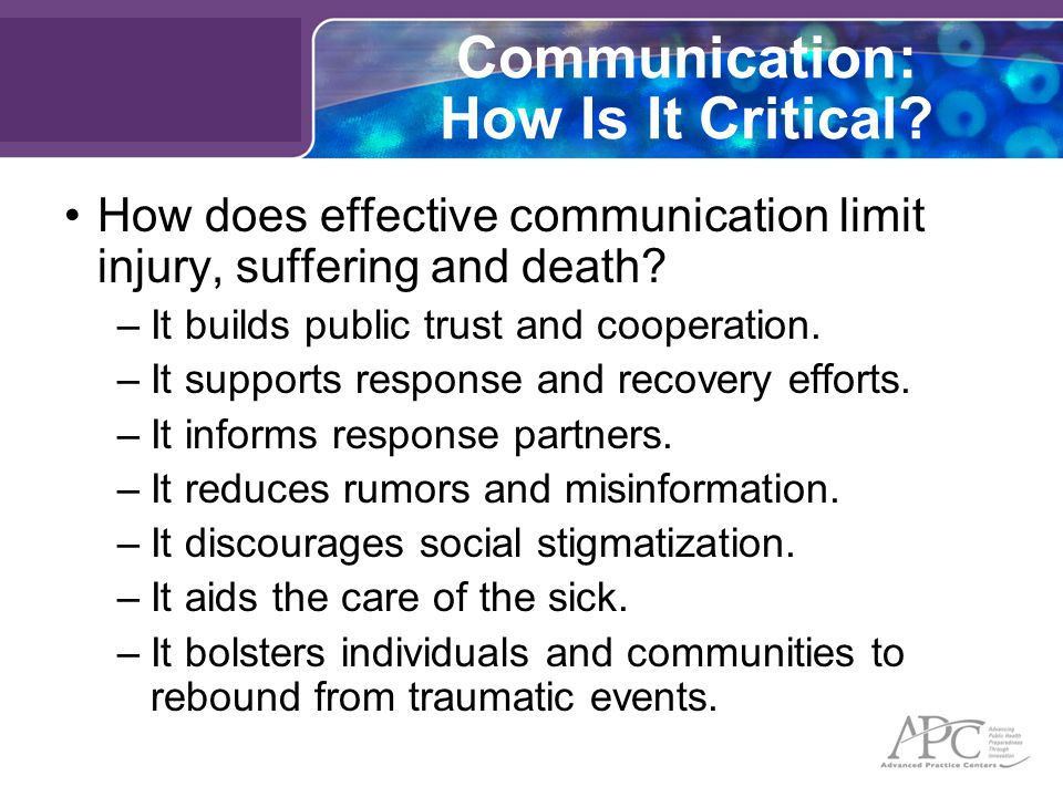 Communication: How Is It Critical.
