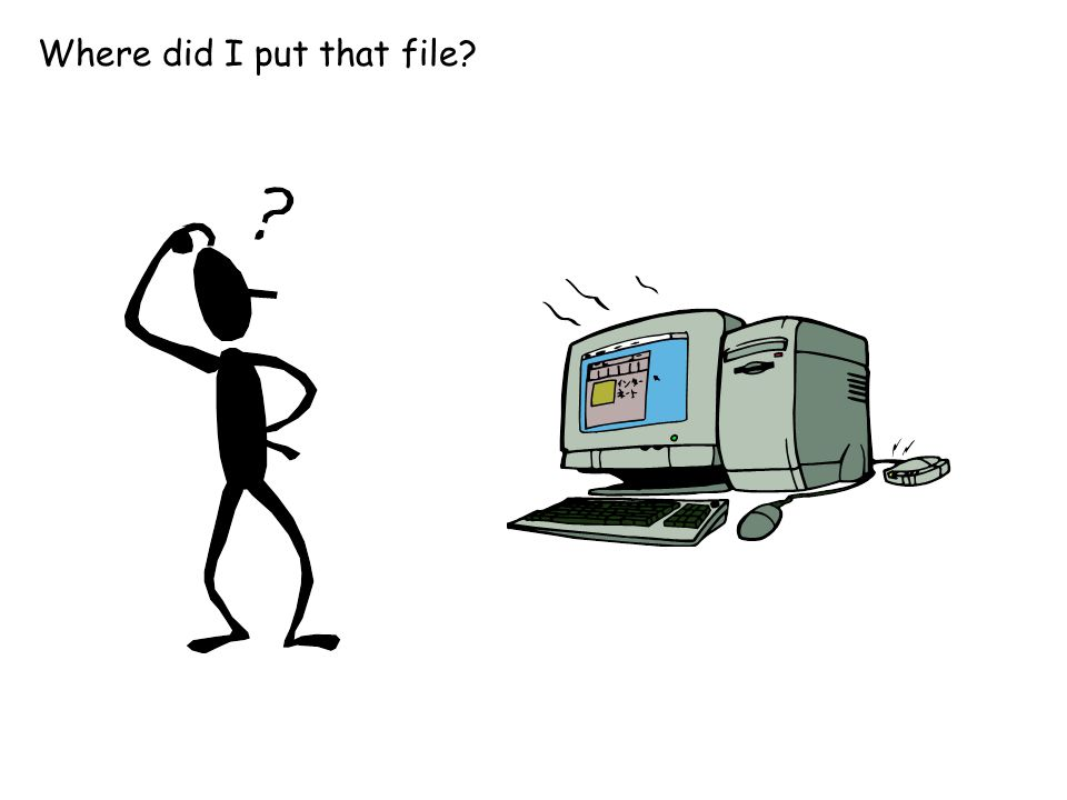 Where did I put that file?
