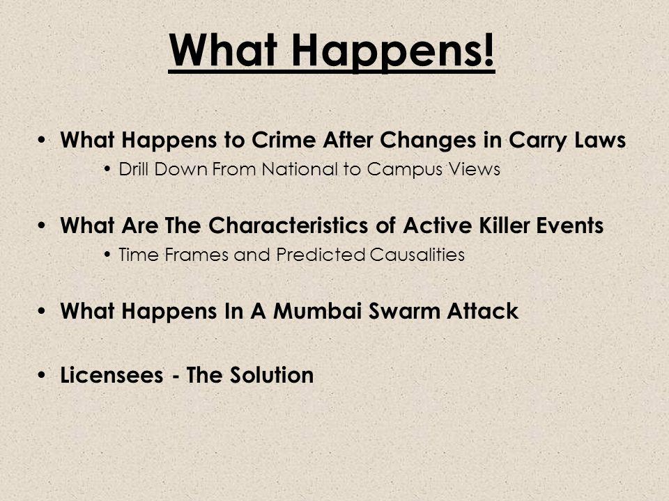 What Happens.