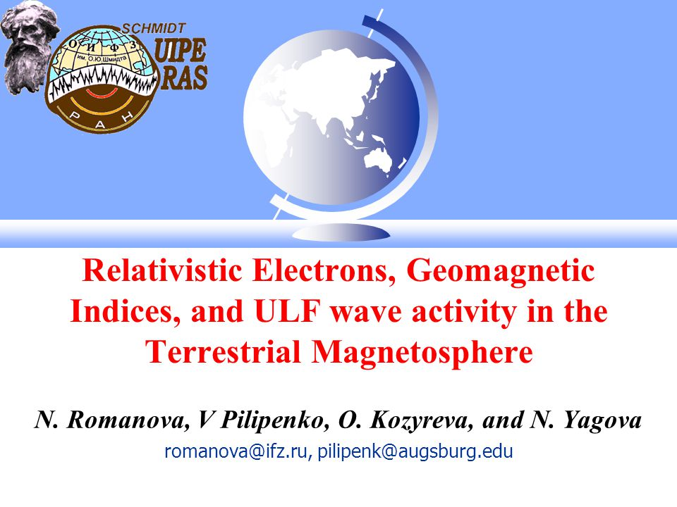 Relativistic Electrons, Geomagnetic Indices, and ULF wave activity in the Terrestrial Magnetosphere N.
