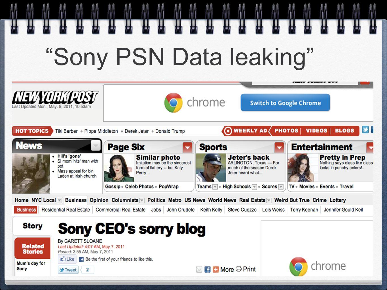 """Sony PSN Data leaking"""
