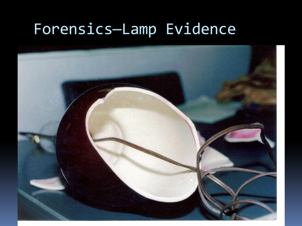 Forensics—Lamp Evidence