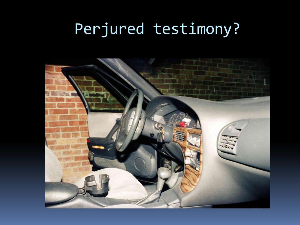 Perjured testimony