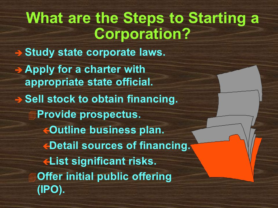 What are the Steps to Starting a Corporation. è Study state corporate laws.