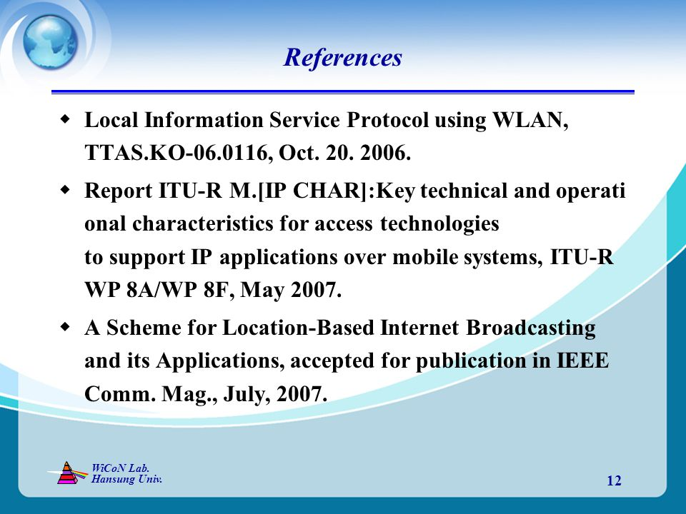 WiCoN Lab. Hansung Univ.