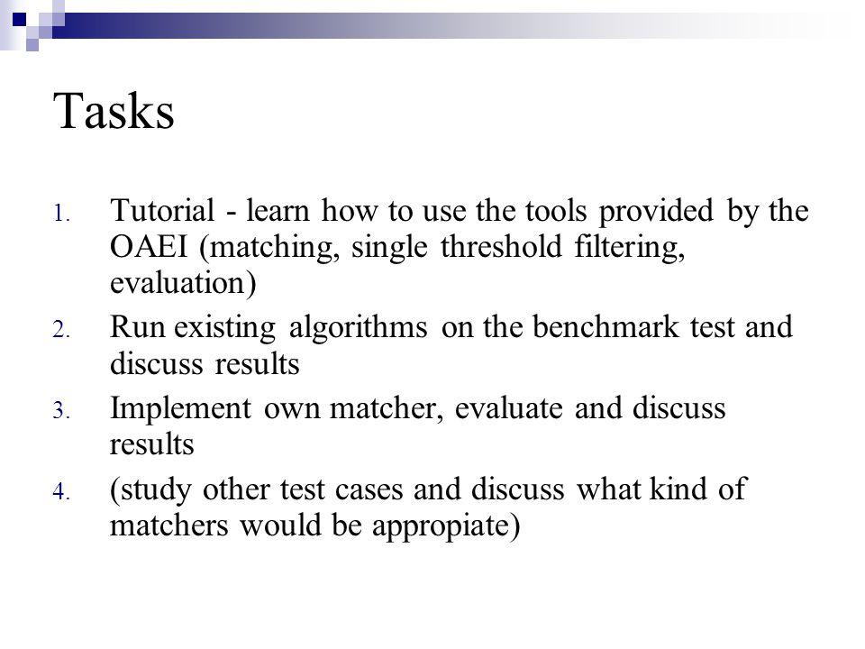Tasks 1.