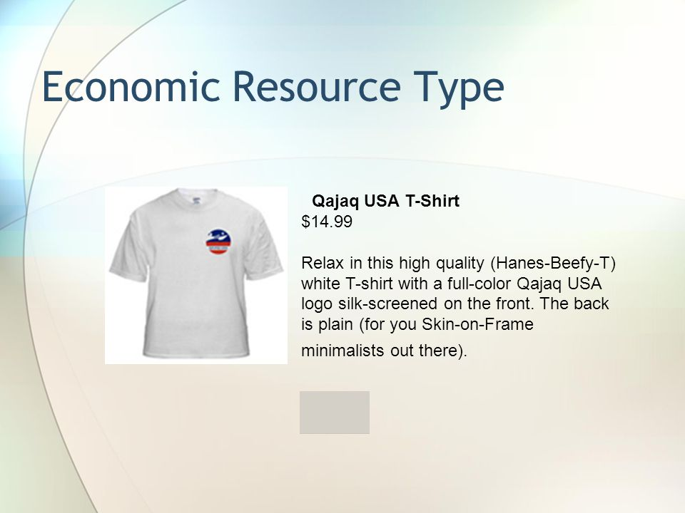 Qajaq USA T-Shirt $14.99 Relax in this high quality (Hanes-Beefy-T) white T-shirt with a full-color Qajaq USA logo silk-screened on the front.