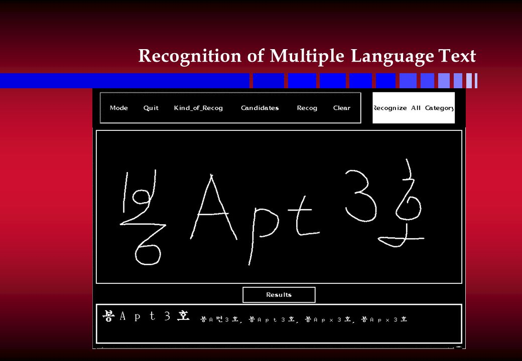 Recognition of Multiple Language Text