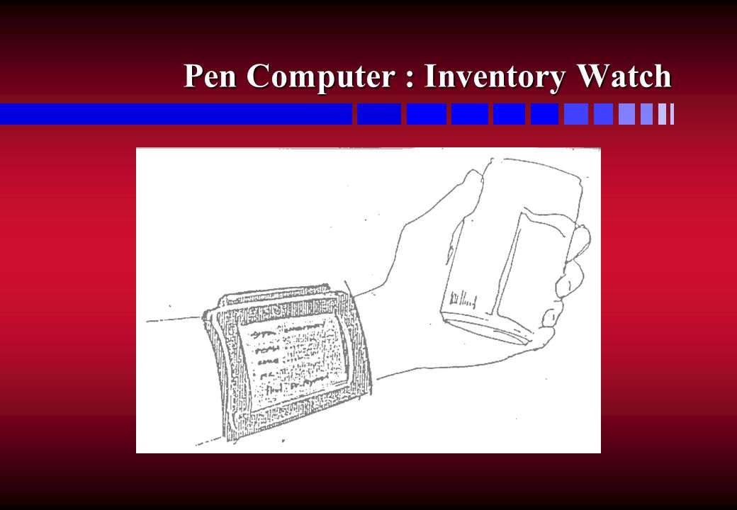 Pen Computer : Inventory Watch