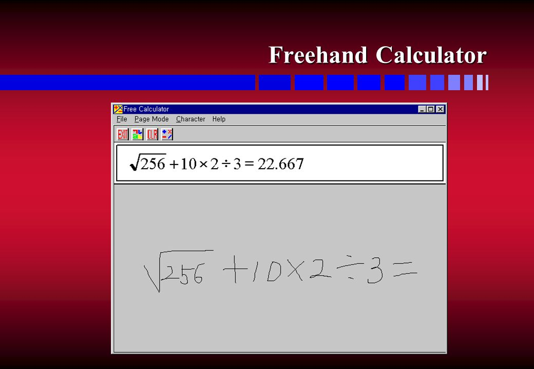Freehand Calculator