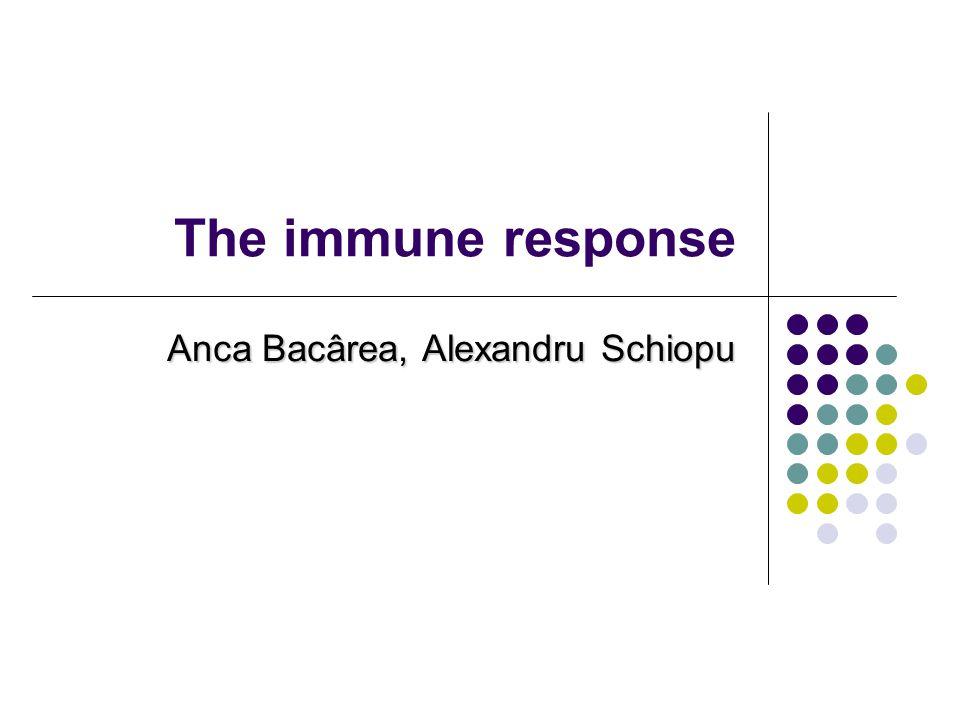 The immune response Anca Bacârea, Alexandru Schiopu