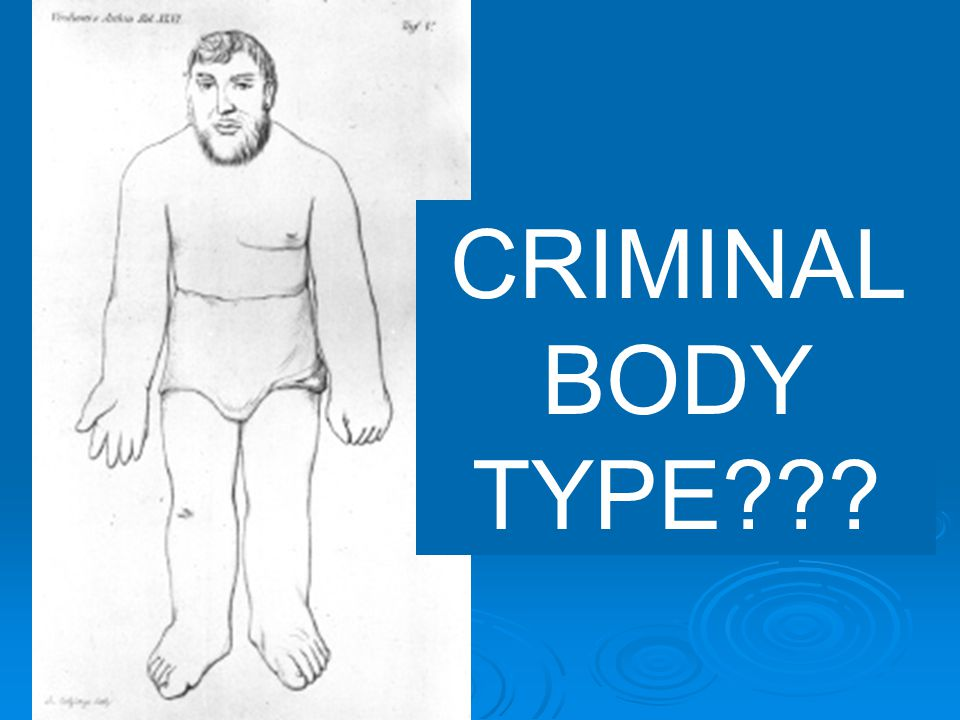 CRIMINAL BODY TYPE???