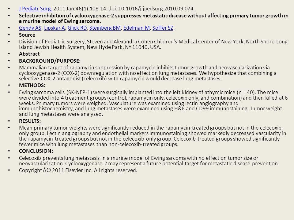 J Pediatr Surg. 2011 Jan;46(1):108-14. doi: 10.1016/j.jpedsurg.2010.09.074.