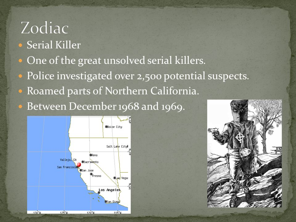Serial Killer One of the great unsolved serial killers.