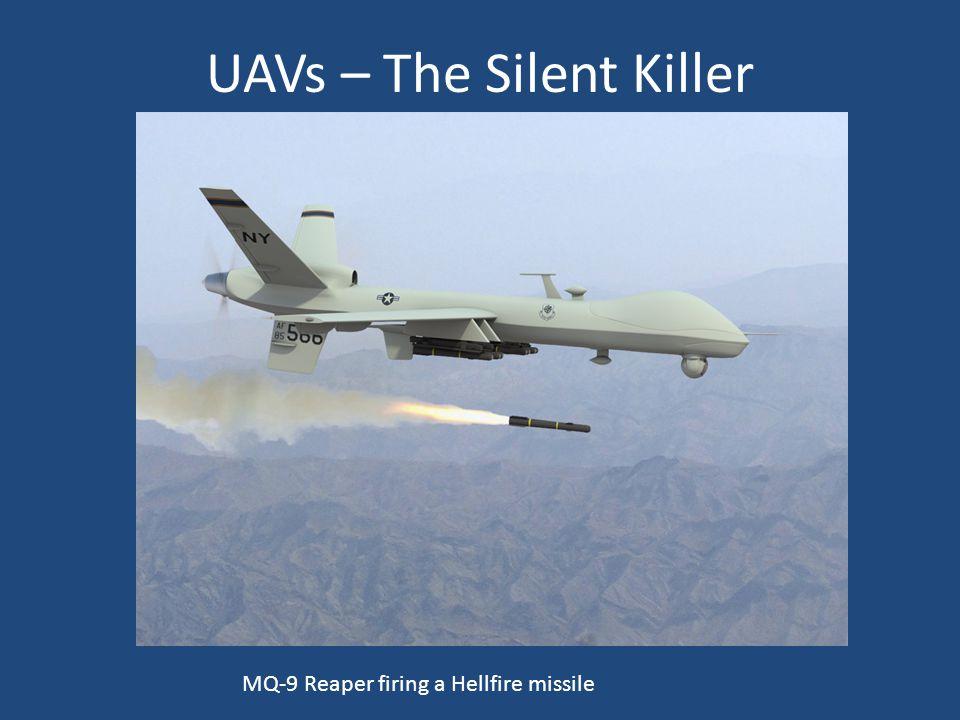 UAVs – The Silent Killer MQ-9 Reaper firing a Hellfire missile