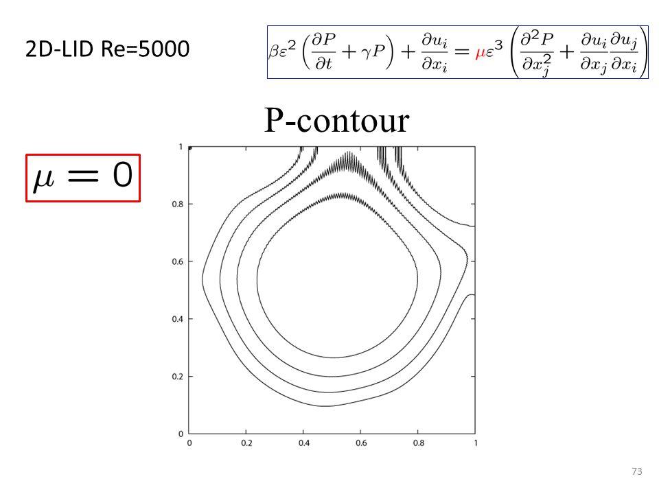 73 P-contour 2D-LID Re=5000