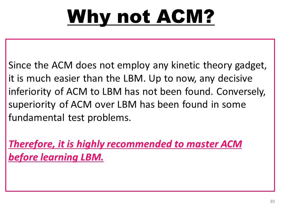 Why not ACM.