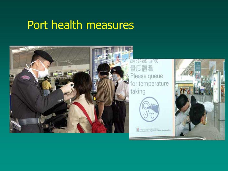 Port health measures