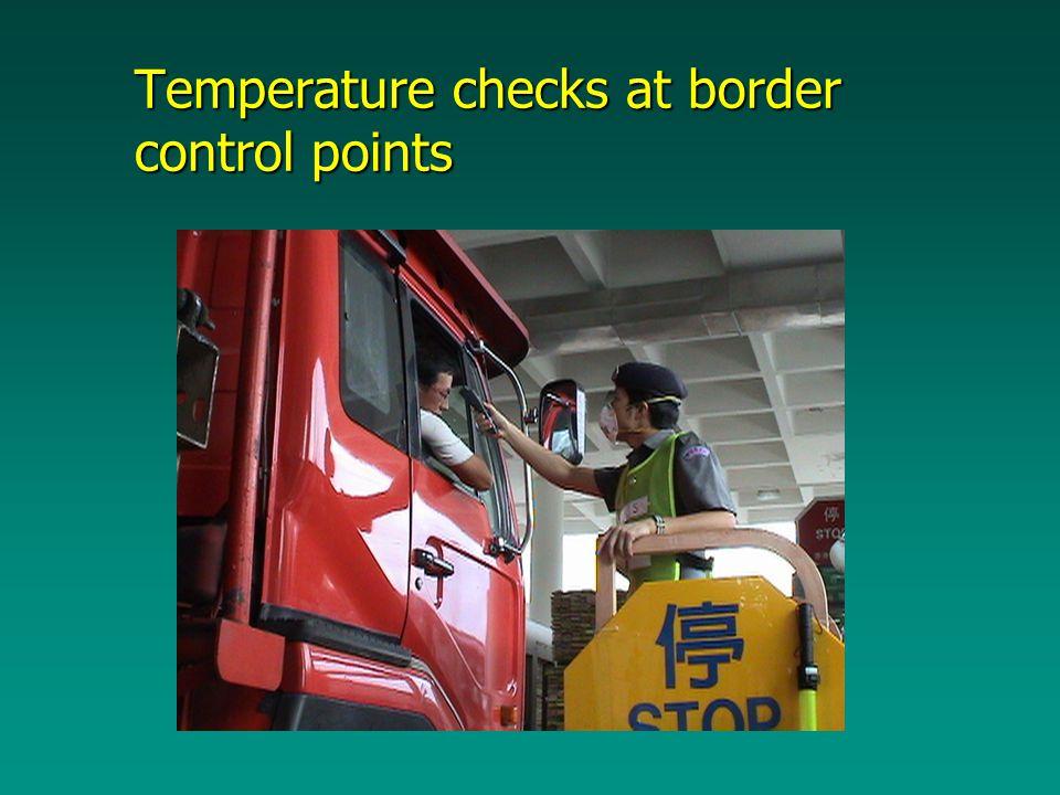 Temperature checks at border control points