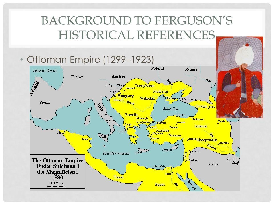 BACKGROUND TO FERGUSON'S HISTORICAL REFERENCES Ottoman Empire (1299–1923)