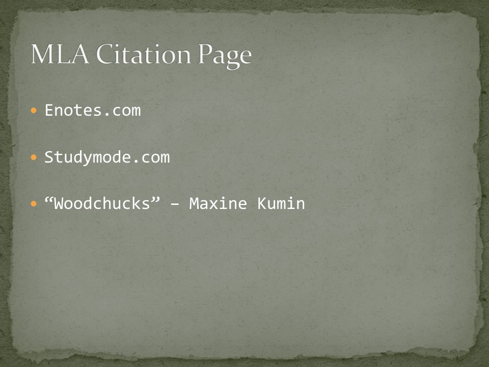 Enotes.com Studymode.com Woodchucks – Maxine Kumin
