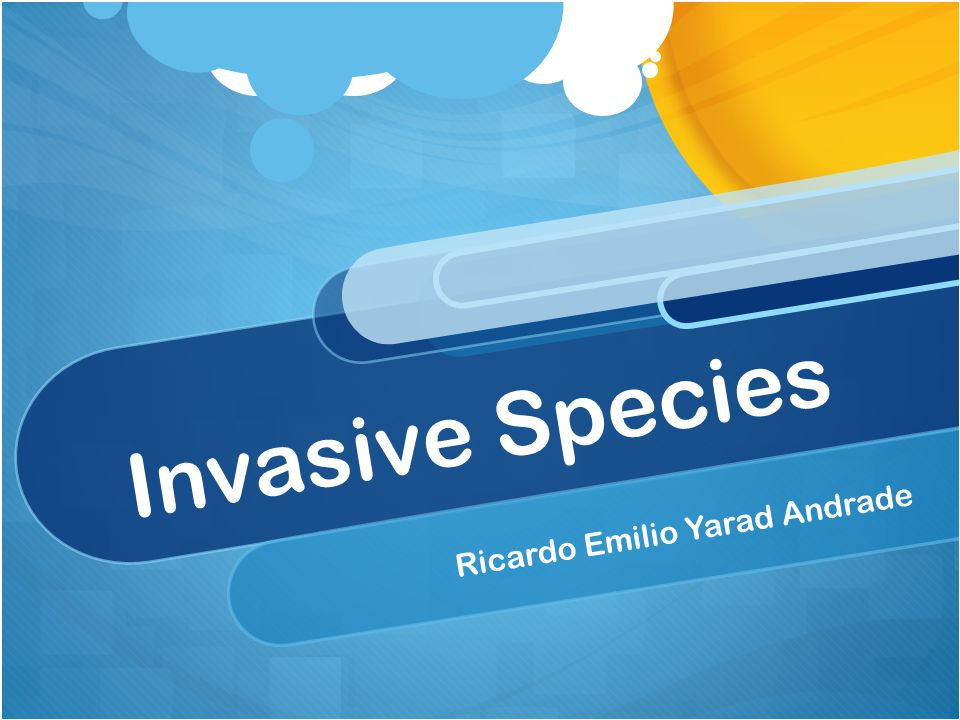 Invasive Species Ricardo Emilio Yarad Andrade