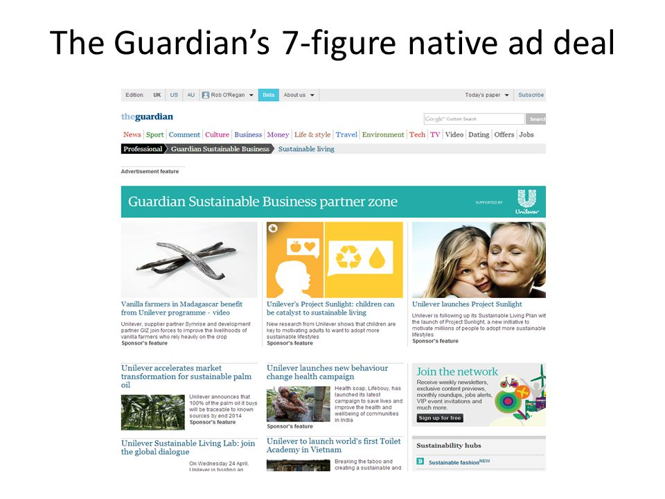 The Guardian's 7-figure native ad deal