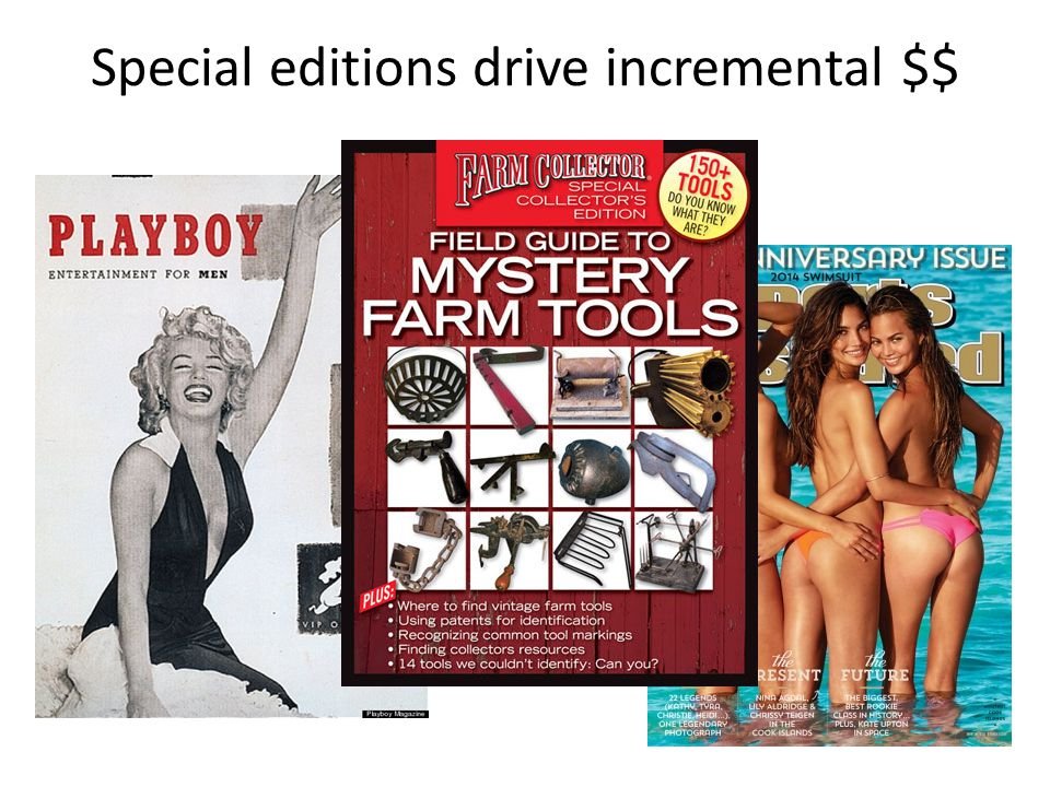 Special editions drive incremental $$