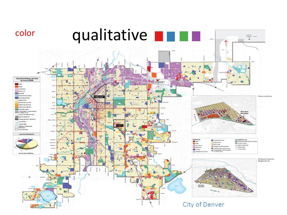 color qualitative City of Denver